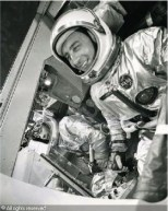 Virgil I. Grissom and John Young during training for the Gemini 2 space mission.