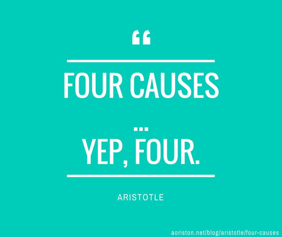 aristotle four causes