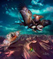 Digital Art, Der Drachenflieger Digital Art Work by Dagmar R. Ritter | Art On Screen [AOS] Magazine
