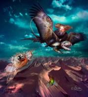 Der Drachenflieger Digital Art Work by Dagmar R. Ritter | Art On Screen [AOS] Magazine