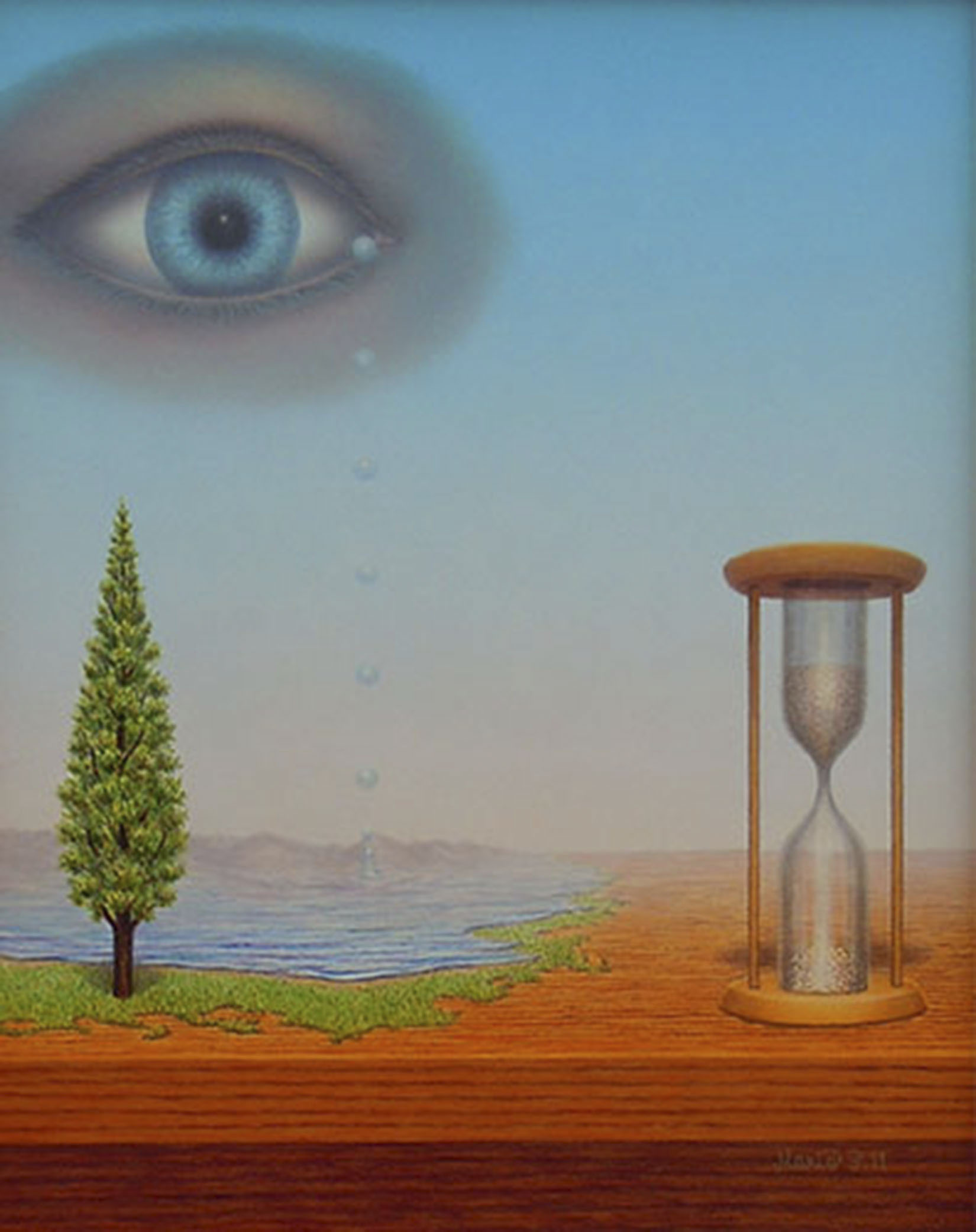 Die Zeit heilt alle Wunden_Mario SCHLEINZER (25cmx20cm)Farbstift,Acryl,Harzölfarbe auf Hartfaserplatte | Art On Screen - [AOS] Magazine