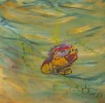 Gerda Wittek, Acryl auf Leinen, 80x80 cm, ohne Titel
