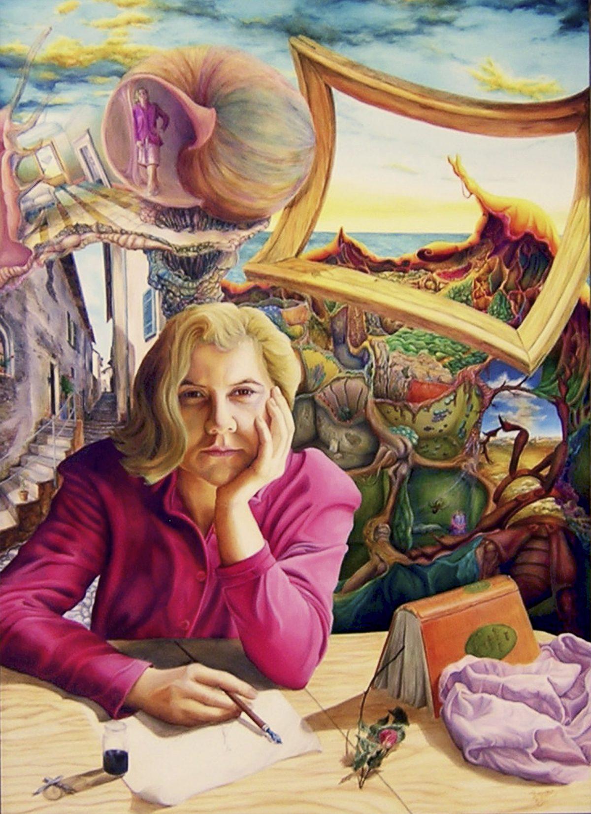 Malerei, Die Welt der Ruth - Ruth`s World, by Dagmar R. Ritter, Holzölfarbe auf Holztafel, Art On Screen [AOS] Magazine