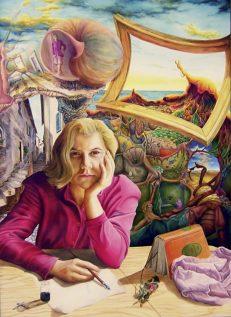 Malerei , Die Welt der Ruth - Ruth`s World, by Dagmar R. Ritter, Holzölfarbe auf Holztafel, Art On Screen [AOS] Magazine