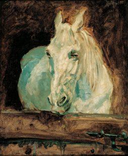 """Henri de Toulouse-Lautrec, Der Schimmel """"Gazelle"""", 1881 © Albertina, Wien, Sammlung Batliner"""