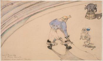 Henri de Toulouse-Lautrec, Im Zirkus Clown Footit – Dresseur, 1899. Statens Museum for Kunst, Kopenhagen © SMK Photo