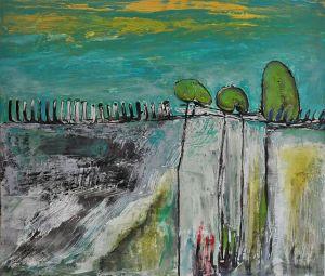 Justyna Gadek, Waiting, Acryl auf Leinwand 60x70 cm, [AOS] Magazine
