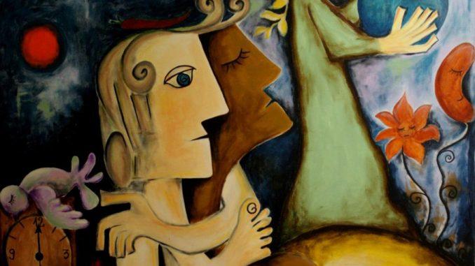 Maria Voican, Das sechste Universum, Acryl und Ölpastel auf Leinwand, 100x120cm, 2010, [AOS] Magazine