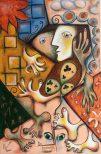 Maria Voican, Never Leave, Acryl und Ölpastel auf Leinwand, 90x60cm, 2010, [AOS] Magazine