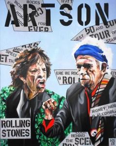 Martin Georg Sonlnleitner, ARTSON Rolling Stones, 2013, 100 x 80 cm ,Öl-Acryl-Leinwand, Figurativ, im [AOS] Magazine