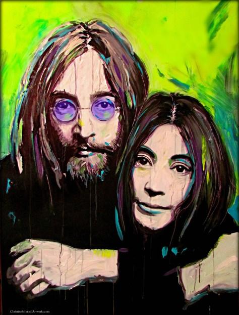 ChristineSchnoellArtworks.com_JohnYokoLove_120x90_Acryl Pigments Canvas Kopie