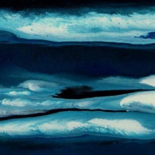 Sascha Weinberg: Aqua I, 50x40x1,8cm, Verlaufstechnik, Acryl auf Leinwand, 2014   Art On Screen - [AOS] Magazine