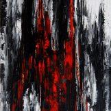 Sascha Weinberg - Mythologie, Sascha Weinberg: Bran, 50x70x1,8cm, Acryl auf Leinwand, Spachteltechnik, 2014 | Art On Screen - [AOS] Magazine