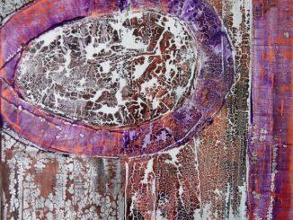 Sascha Weinberg: Fragilitas2, 50x70x1,8cm, Acryl auf Leinwand, Mischtechnik,2015 | Art On Screen - [AOS] Magazine - NEWS