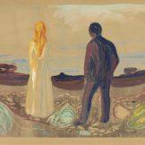 Edvard Munch Zwei Menschen. Die Einsamen, 1899 Privatsammlung Courtesy Galleri K, Oslo © Foto Courtesy Galleri K, Oslo