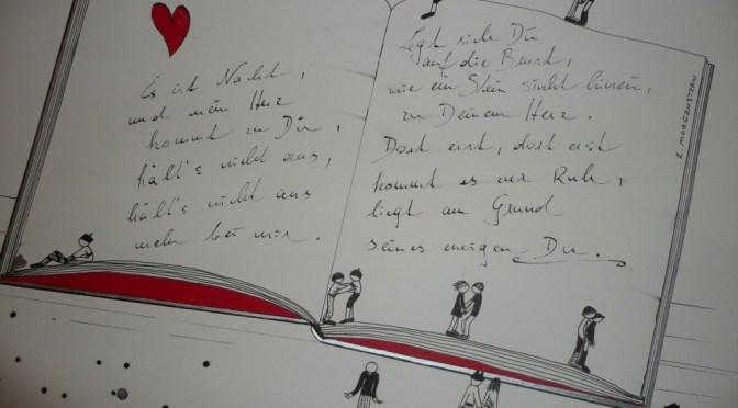 Michaela Stockhammer. Tinte, Acryl. 30x 40 cm. Tit. Ein Liebesgedicht von Morgenstern... 2013 | Art On Screen - [AOS] Magazine