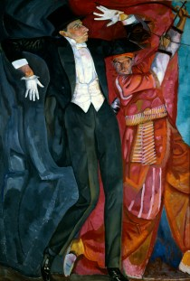 Chagall bis Malewitsch, Boris Grigorjew, Porträt von Wsewolod Meyerhold, 1916, St. Petersburg, Staatliches Russisches Museum