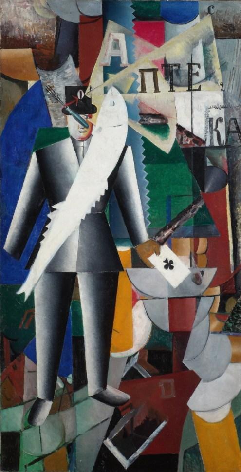 Bildgalerie zur Ausstellung Chagall bis Malewitsch, Kazimir Malewitsch, Aviator, 1914, St. Petersburg, Staatliches Russisches Museum