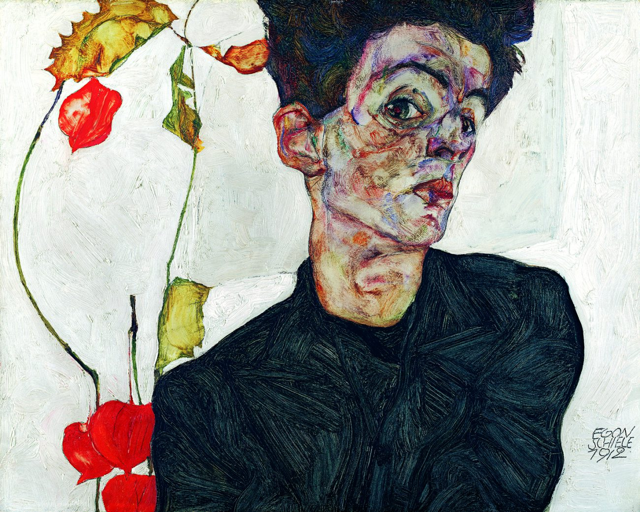Egon Schiele - Selbstbildnis, Art On Screen - [AOS] Magazine - NEWS
