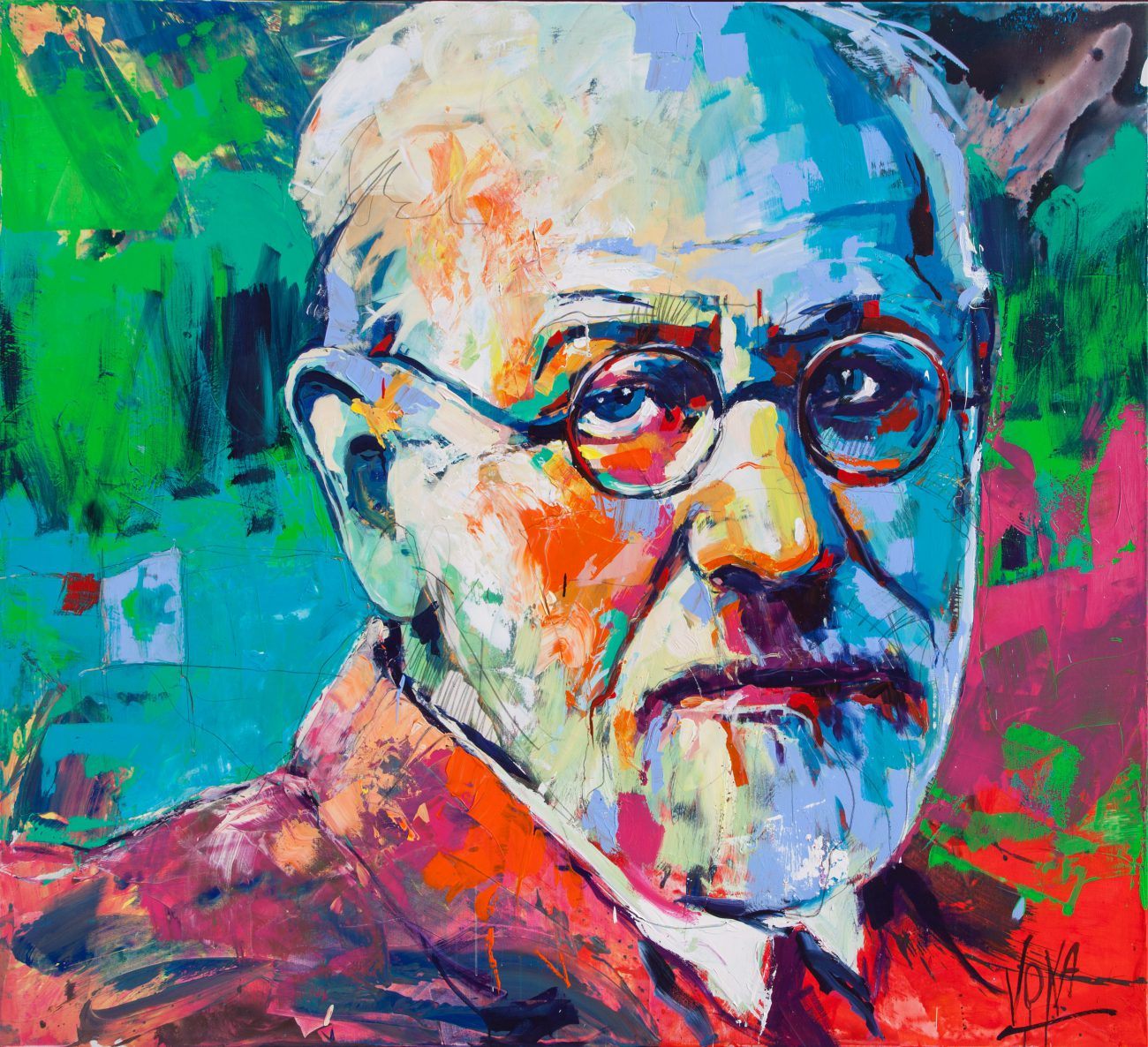 Sigmund Freud, Artwork by Voak