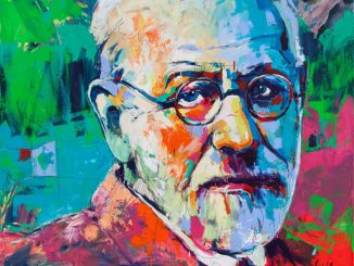 Sigmund Freud, Artwork by Voka