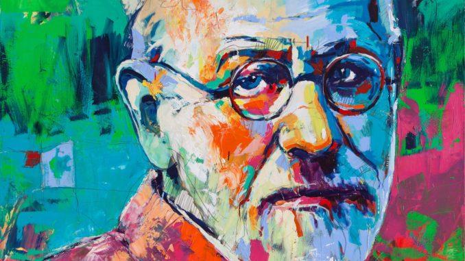 Sigmund Freud, Artwork by Voka