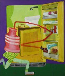 Peter Saul, amerikanischer pop art maler, Peter Sauls Werke, Bilder, Superman, Ausstellung Schirn Kunsthalle