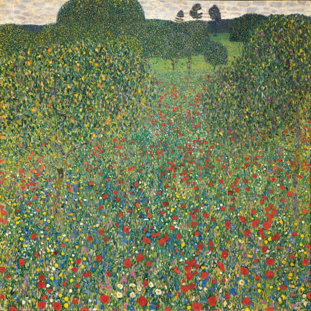 Gustav Klimt, Blühender Mohn, Art On Screen - News - [AOS] Magazine