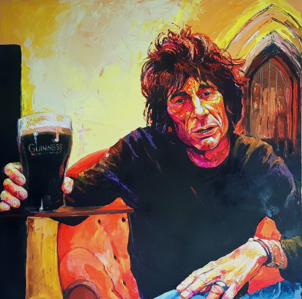 Enke Caecilie Jansson, Cheers Ron Wood 140x140cm © Enke Caecilie Jansson - Art On Screen - NEWS - [AOS] Magazine