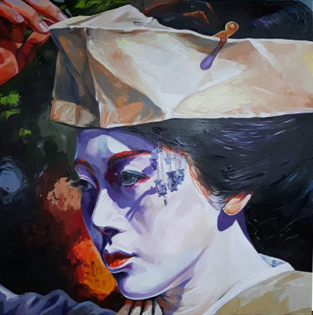 Enke Caecilie Jansson, Geisha 110x110cm © Enke Caecilie Jansson - Art On Screen - NEWS - [AOS] Magazine