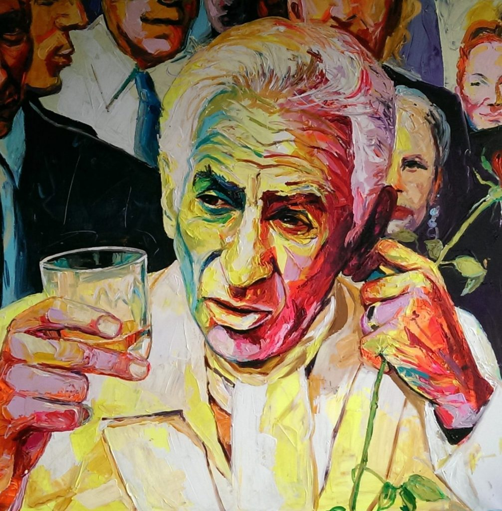 Enke Caecilie Jansson, Lenny Bernstein 140x140cm © Enke Caecilie Jansson - Art On Screen - NEWS - [AOS] Magazine