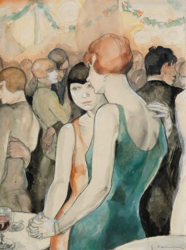 Jeanne Mammen, Zwei Frauen, Art On Screen - NEWS - [AOS] Magazine