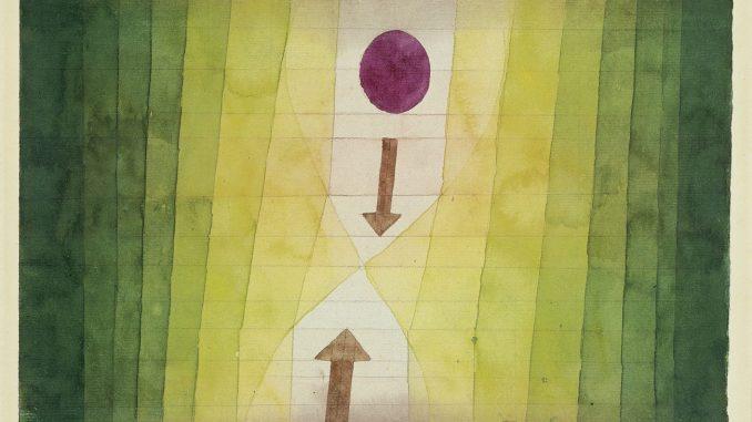 Paul Klee Ausstellung, Fondation Beyeler, PAUL KLEE, VOR DEM BLITZ, Aquarell und Bleistift auf Papier, Sammlung Beyeler