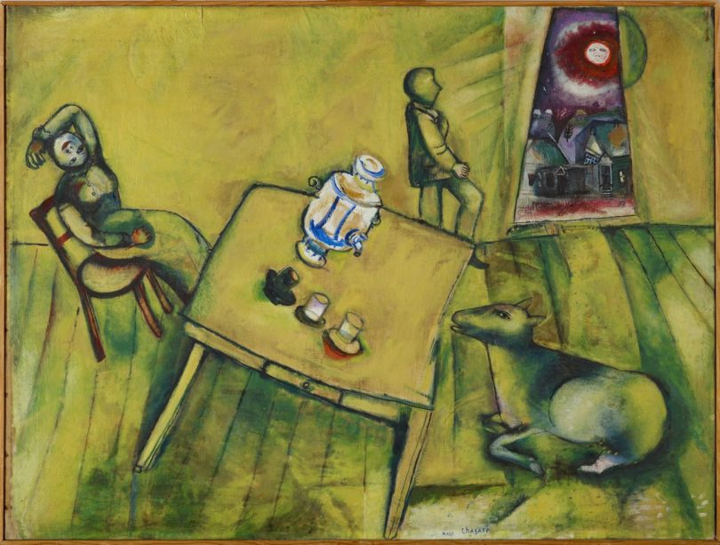 Marc Chagall, Ausstellung in Basel, Das gelbe Zimmer (La chambre jaune), 1911 Öl auf Leinwand, 84.2 x 112 cm, Art On Screen - News - [AOS] Magazine