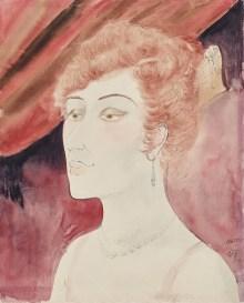 Bestandsaufnahme Gurlitt, Otto Dix, Dame in der Loge, Aquarell und Tusche auf Velinpapier, Art On Screen - NEWS - [AOS] Magazine