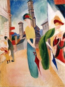 The Heidi Horten Collection, AUGUST MACKE, ZWEI FRAUEN VOR DEM HUTLADEN, Art On Screen - News - [AOS] Magazine