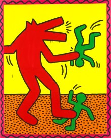 Keith Harings Alphabet, Keith Haring, Ohne Titel, 1982 Email und Leuchtfarbe, Art On Screen - News - [AOS] Magazine