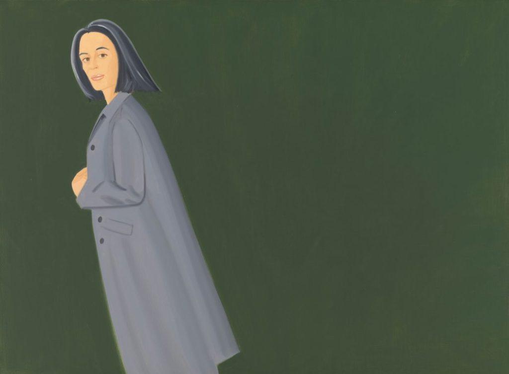 Alex Katz, Pop Art Künstler: Alex Katz, Grey Coat, 1997, Öl auf Leinwand, 167,6 x 228,6 cm, Bayerische Staatsgemäldesammlungen, Museum Brandhorst, München © Alex Katz, VG Bild-Kunst, Bonn 2018