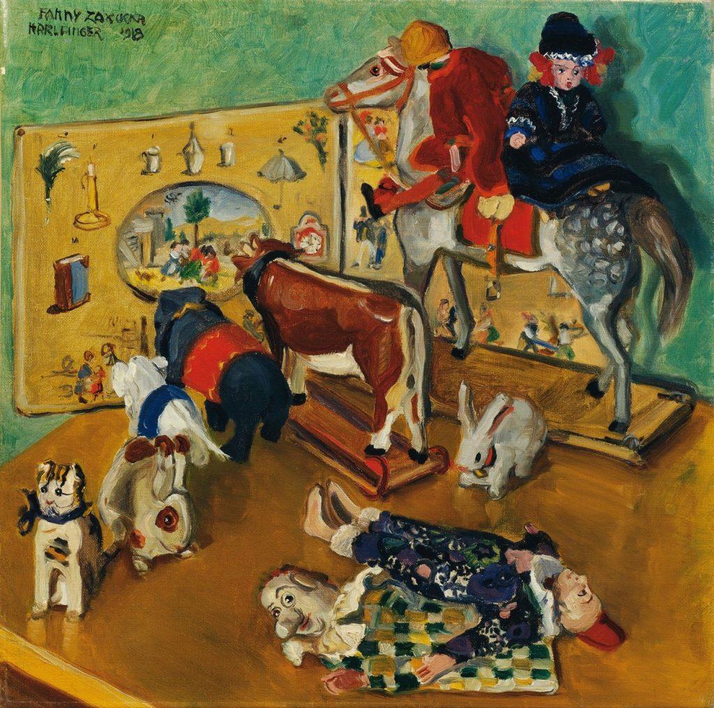 Stadt der Frauen, Fanny Harlfinger-Zakucka, Spielzeug, 1918 © Belvedere, Wien