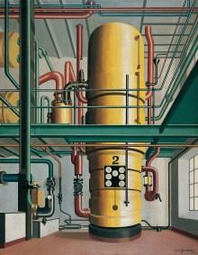 Welt im Umbruch, Kunst der 20er Jahre, Carl Grossberg - Der gelbe Kessel, | Art On Screen - NEWS - [AOS] Magazine