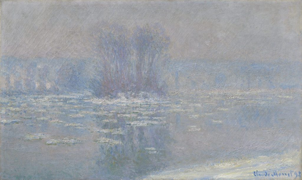 Claude Monet, Eisschollen in Bennecourt, Claude Monet Orte, Museum Barberini