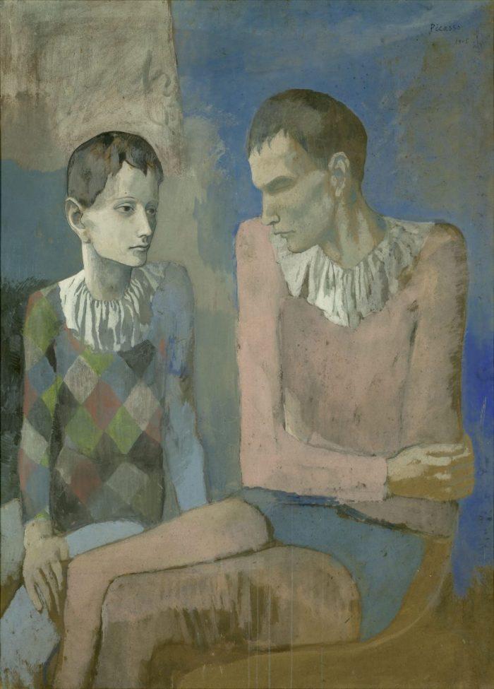 Der junge Pablo Picasso, Blaue und Rosa Periode, PABLO PICASSO, ACROBATE ET JEUNE ARLEQUIN