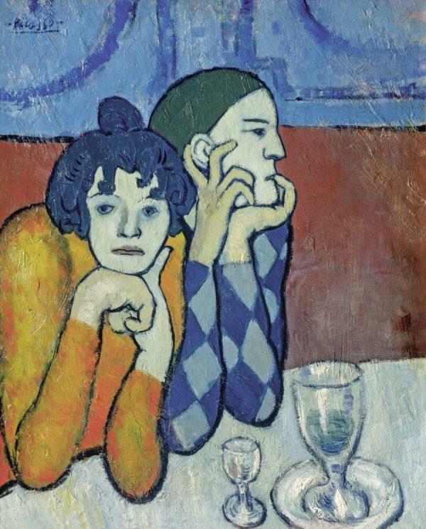 Picasso in Blau und Rosa, PABLO PICASSO, ARLEQUIN ET SA COMPAGNE, Fondation Beyeler
