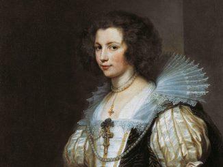 Anthonis van Dyck, Porträt der Maria de Tassis, Ausstellung Rubens bis Makart, Die Fürstlichen Sammlungen Liechtenstein, Albertina Wien
