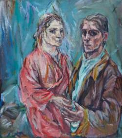 Oskar Kokoschka Biografie, Doppelbildnis Kokoschka und Alma Mahler,