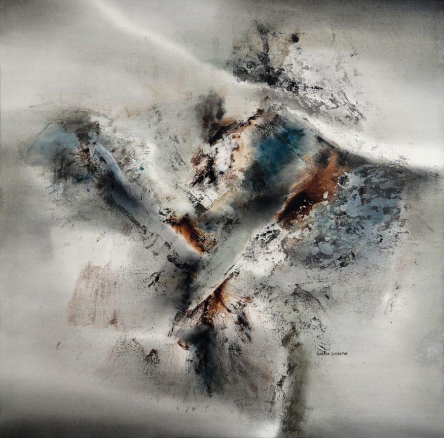Untitled I, Laxman Shrestha, Nepal Art Now, Weltmuseum Wien