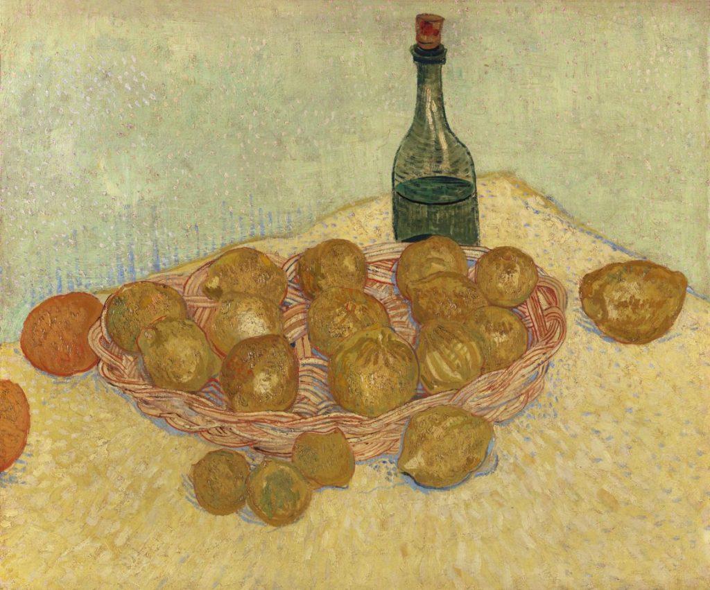 Vincent van Gogh, Korb mit Zitronen und Flasche, Van Gogh Stillleben, Von Gogh Ausstellung, Stillleben, Museum Barberini,