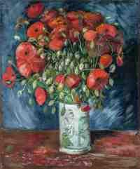 Vincent van Gogh, Vase mit Mohnblumen, Van Gogh Stillleben, Von Gogh Ausstellung, Stillleben, Museum Barberini