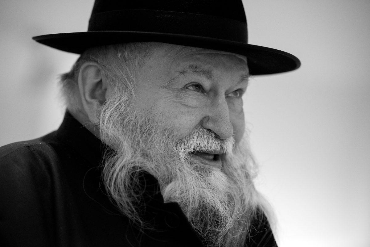 Porträt Hermann Nitsch, Leicht Angetrunken