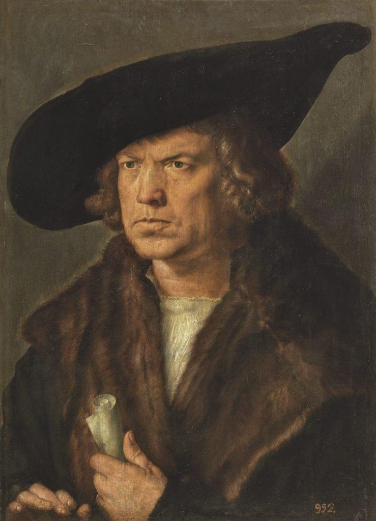 Albrecht Dürer Ausstellung, Albrecht Dürers Zeichnungen, Meisterwerke und Zeichnungen, Ausstellung in der Albertina, Bildnis eines bartlosen Mannes mit Barett,